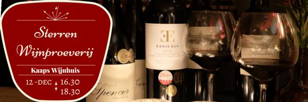 Sterren Wijnproeverij 12 december Kaaps Wijnhuis