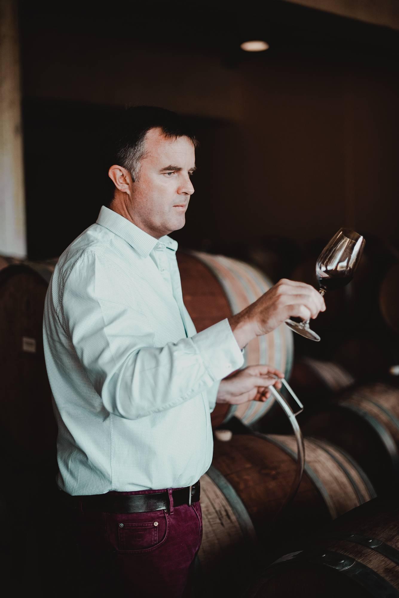 Glenelly- Stellenbosch- Wijnmaker Luke O'Cuinneagain uit Zuid-Afrika