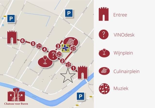 Kaaps Wijnhuis op plein 1, stand 3 Chateau voor Buren