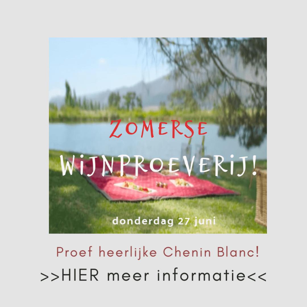 Wijnproeverij met selectie van beste Zuid-Afrikaanse wijnen op 27 juni.