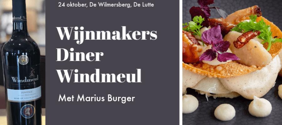 Wijnmakers diner Windmeul De Wilmersberg 24 oktober