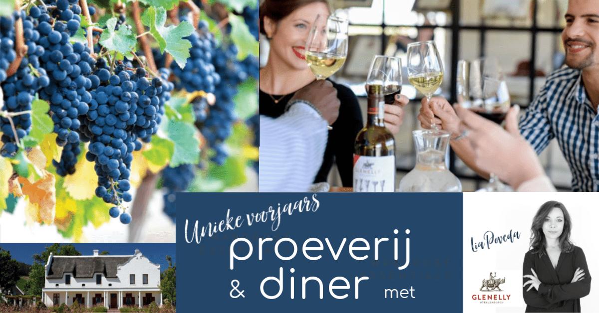 Unieke voorjaars proeverij en diner met gast van exclusieve Glenelly Wine Estate