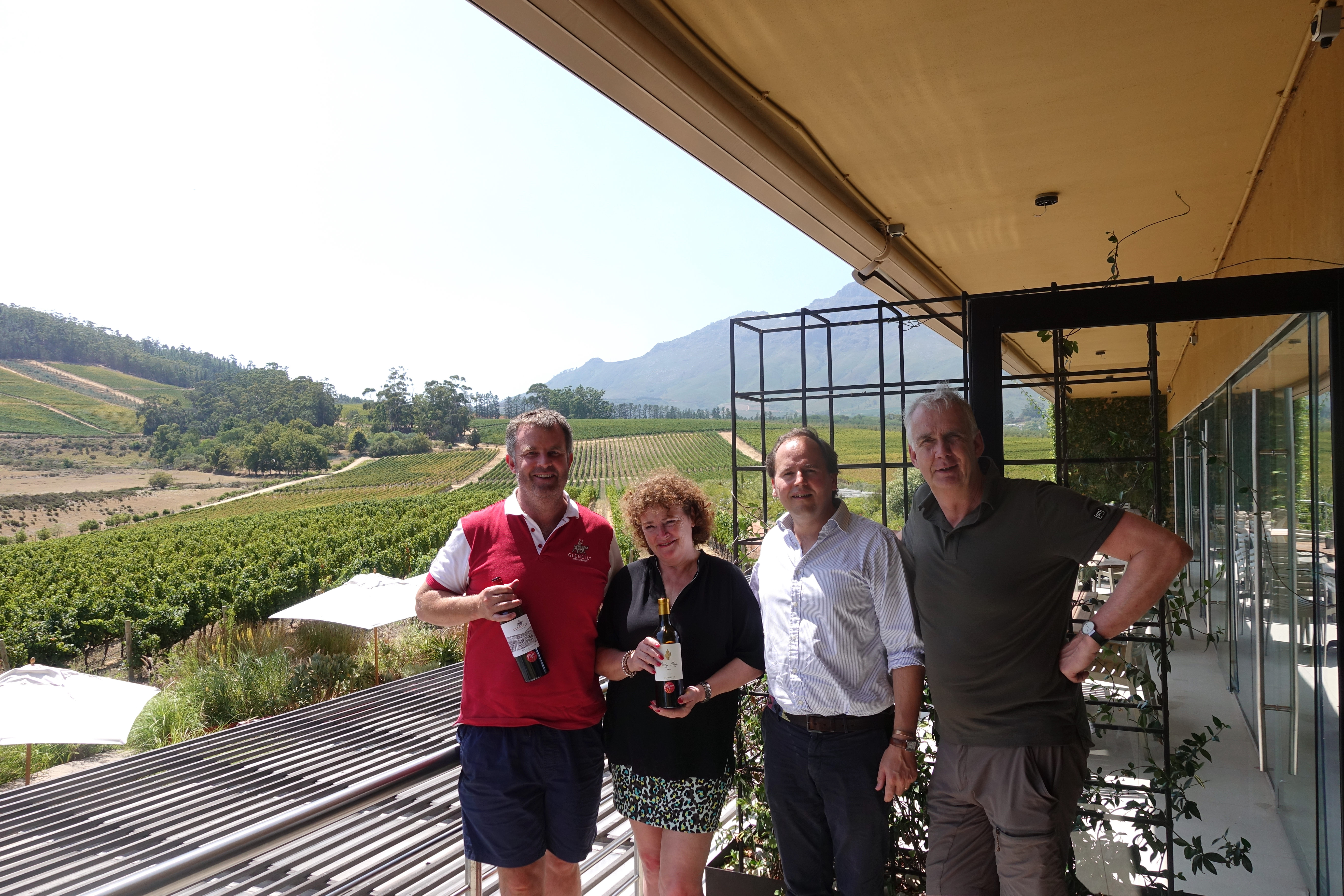 Op Glenelly Wine Estate Stellenbosch met Nicolas en Luke