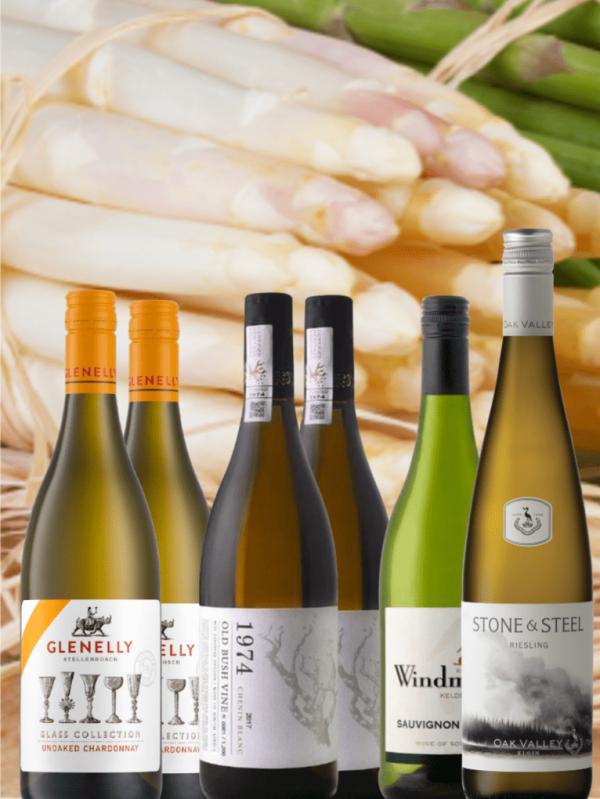 Wijnpakket Asperges met een top Zuid-Afrikaanse Riesling