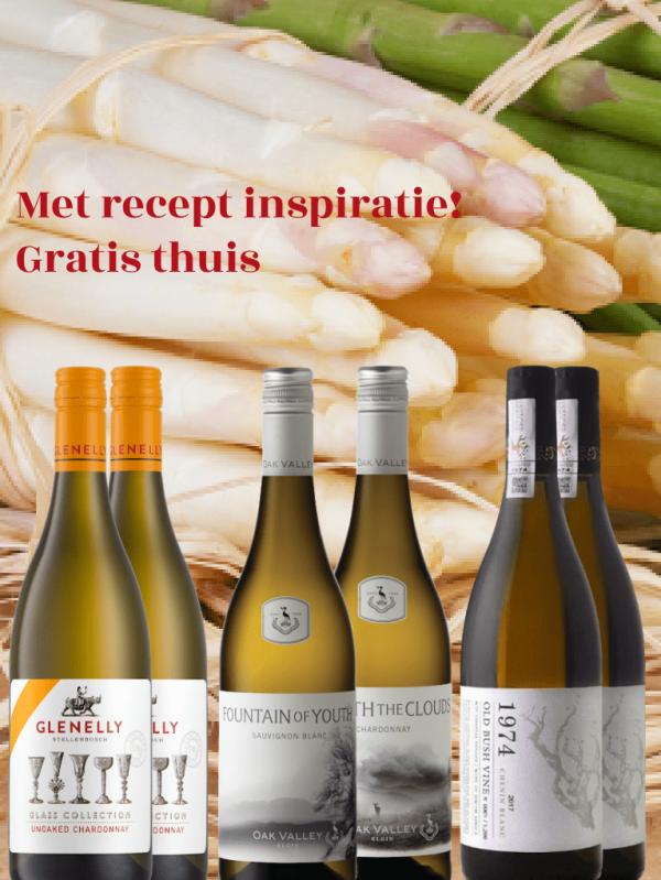 Wijnpakket aspergewijnen met recepten