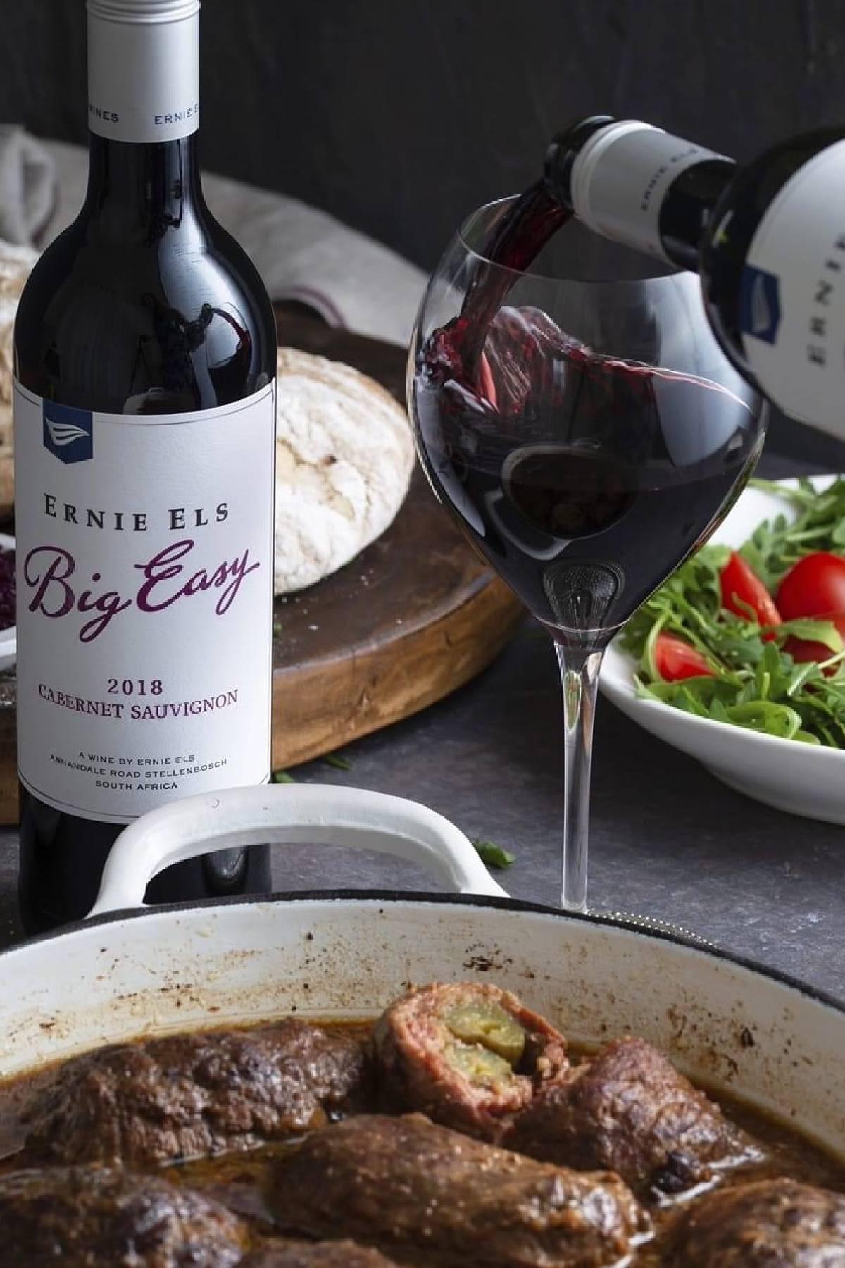 Ernie Els Big Easy Cabernet Sauvignon - hartige rollade gerecht