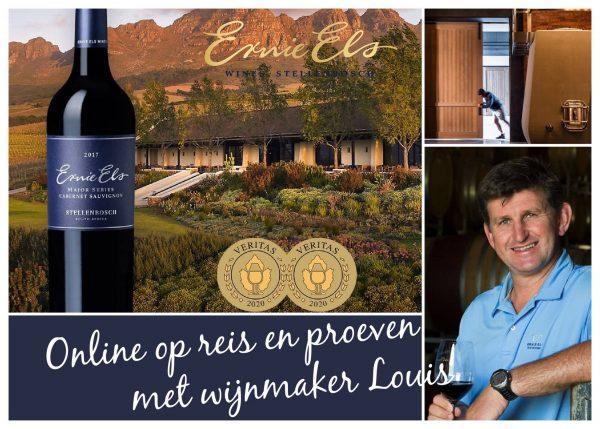 Ernie Els online wijnproeverij